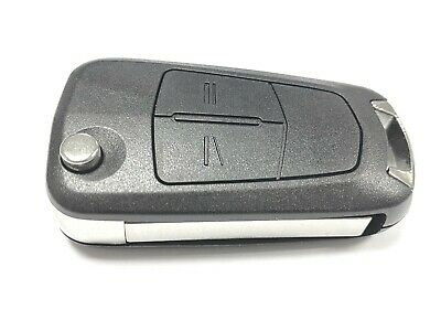 Replacement 2 button flip key case for Vauxhall Opel Astra H remote fob