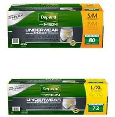 Depend for Men Underwear, Maximum Absorbency, Small-Medium-Large-XL, 72-80 Count