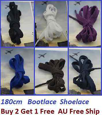180cm Long Flat Shoelaces Bootlaces Shoe Lace Buy 2 Get 1 Free - In Australia