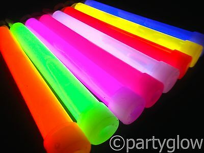 "6"" Glow Sticks Bright Glowsticks Thick Coloured Glow Sticks Raves Festivals"