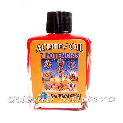 SPIRITUAL ANOINTING OIL- 7 POWER (7 POTENCIAS) 1/2 oz. FOR SPELLS WICCA  ACEITE