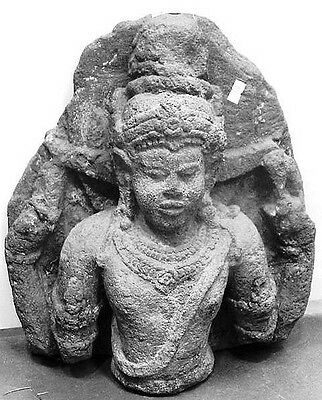 Antique 9Th/10Th Century Javanese Stone Sculpture Hindu Museum Shiva Genuine Old