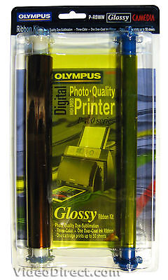 Olympus P-RBWW Glossy Prints Ink Ribbon for P-440 and P-400 Printers - US SELLER