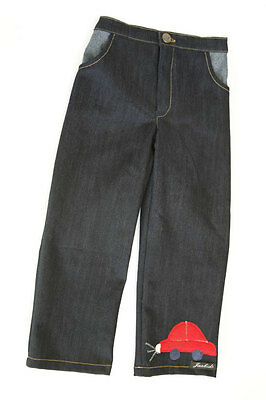 Boys Straight Leg Dark Blue Soft Denim Jeans Trousers Age Range 1 - 6 Years