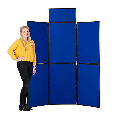 NEW 6 Panel Exhibition Display Board, Plastic Frame & Carry Case