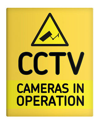"CCTV Cameras in Operation 8x10"" Metal Sign Security Premises Business Work #49"