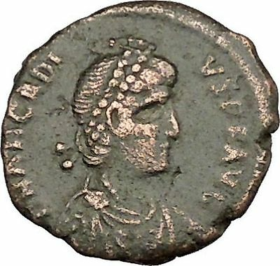 Arcadius crowned by Victory 395AD Rare Authentic Ancient Roman Coin  i39403
