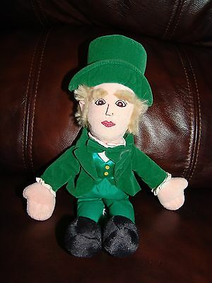 The Wizard of Oz Green Wizard Magician Plush Beanie Doll 11 1/2""