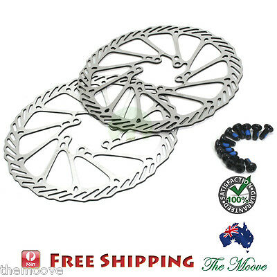 160mm Bike Disc Brake Rotor 2 pcs +12 Stainless Steel Blots fit for Avid G3