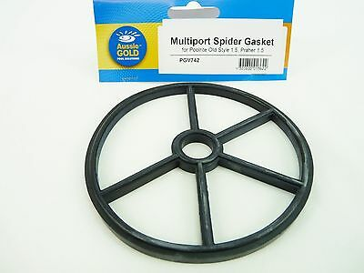 Poolrite Praher Spider Gasket Old Style Pool Filters Multi Port Valve 40mm mpv