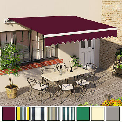 3.5 x 2.5m Awning Manual Garden Canopy Patio Sun Shade Shelter Retractable