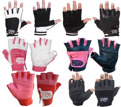 WEIGHT LIFTING bodybuilding GYM Fitness LEATHER GLOVES SLIM FITTING MEN WOMEN