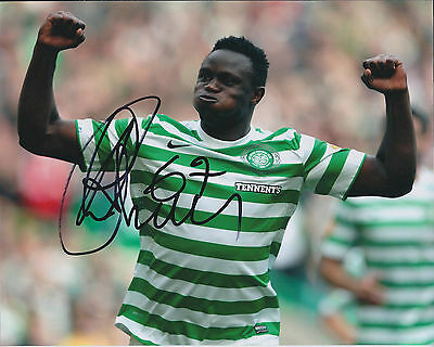 Victor WANYAMA Signed Autograph 10x8 Photo AFTAL COA Celtic LEGEND RARE