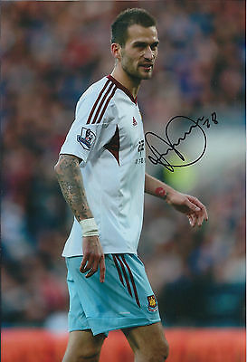 Roger JOHNSON SIGNED 12x8 Photo Autograph West Ham United AFTAL COA Hammers