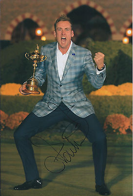 Ian POULTER In Person SIGNED Autograph 12x8 Photo AFTAL COA Ryder Cup Winner