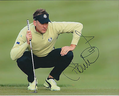 Ian POULTER SIGNED Autograph 10x8 Photo AFTAL COA Reading The Green Ryder Cup