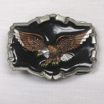 Vintage 1983 Eagle Belt Buckle From The Great American Buckle Company **