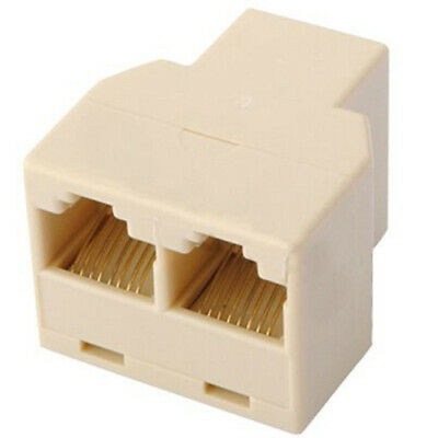 RJ45 CAT5E Ethernet LAN Network Y Splitter Double Adapter 3 Ports Coupler Joiner