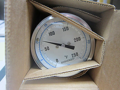 "ASHCROFT BIMETAL THERMOMETER 7HA-17649-007   3"" *NEW*  Kewanee"