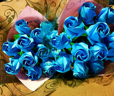 Wholesale 100 Roses Origami Paper Flowers Valentine anniversary Wedding bouquet