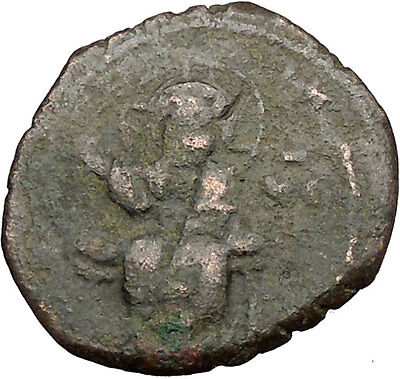 JESUS CHRIST Class F Anonymous Ancient 1059AD Byzantine Follis Coin   i39443