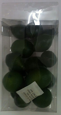 Artificial small Lime - Plastic Decorative Fruit Limes 16 PC NEW IN PACKAGE