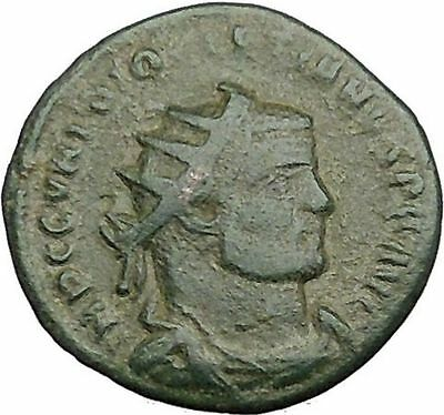 Diocletian receiving Victory from Jupiter 295AD Ancient Roman Coin i39466