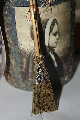 New Wolf altar broom - WICCA