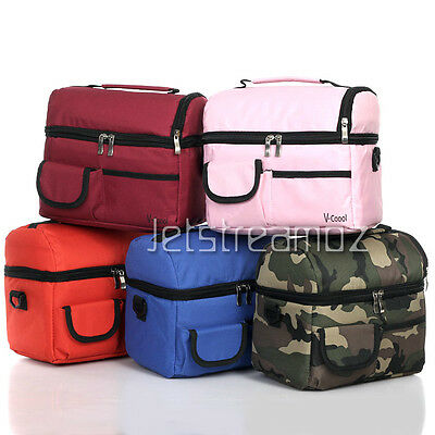 8L Portable Picnic lunch insulated cooler Bag multi-function outdoor Travel