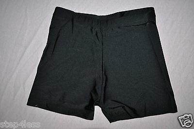 NWT Bal togs Adult -size Medium Black Nylon-Lycra Dance High rise Shorts #814