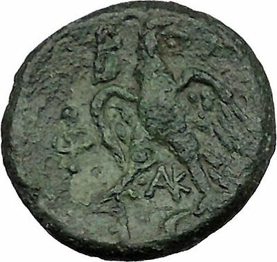 PHILIP V King of Macedonia 221BC  Ancient  Greek Coin HERO PERSEUS Eagle i39485