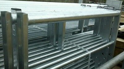 GALVANISED 7 RAIL NATIONAL CHANNEL END  Metal Farm/Field/Security Gates