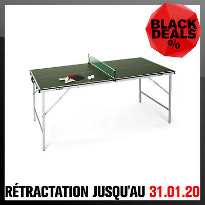 TABLE DE PING PONG PLIABLE PORTABLE INTERIEUR EXTERIEUR 75x153cm LEGERE: 16KG