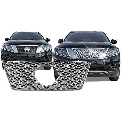 NEW! Chrome Grille Overlay FOR 2013 2014 2015 Nissan Pathfinder
