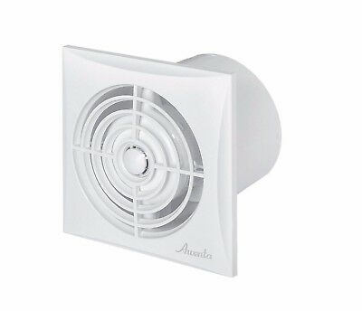 "Silent Bathroom Extractor Fan 100mm / 4"" Timer Humidity Sensor Low Noise WZ100H"