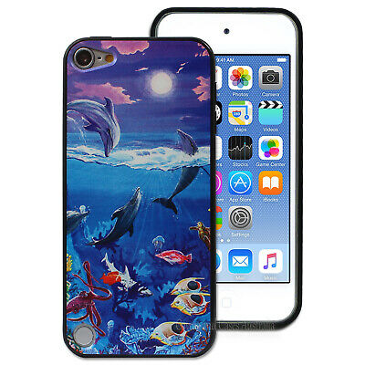 Under Sea Dolphin Case for iPod touch 5th Gen 5 Hard Back Ocean Cover