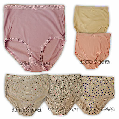Womens Mamma Briefs Ribbed Printed Embroidered  Lot of 3 6 or 12 Pairs