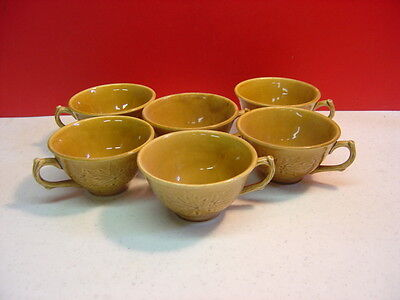 Harker China WOOD SONG Honey Brown 6 Cups