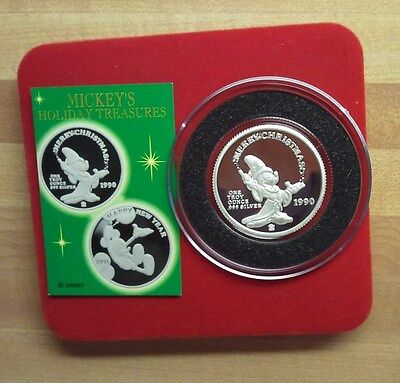 """""""Rare""""1990 Disney Store Issue - Proof Silver Coin"""
