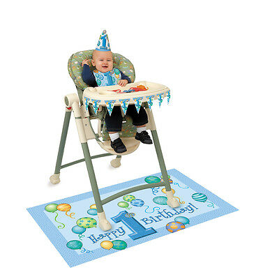 BOY 1st FIRST Birthday Party BLUE  Baby High chair Decoration Kit Highchair Bn