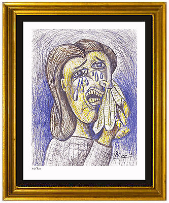 "Pablo Picasso Signed/Hand-Numbered Ltd Ed ""Weeping Woman II"" Print (unframed)"