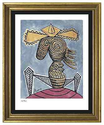 "Pablo Picasso Signed/Hand-Numbered Ltd Ed ""Seated Woman Hat""  Print (unframed)"