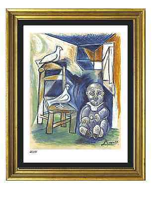 "Pablo Picasso Signed/Hand-Numbered Ltd Ed ""Child w Doves"" Litho Print (unframed)"