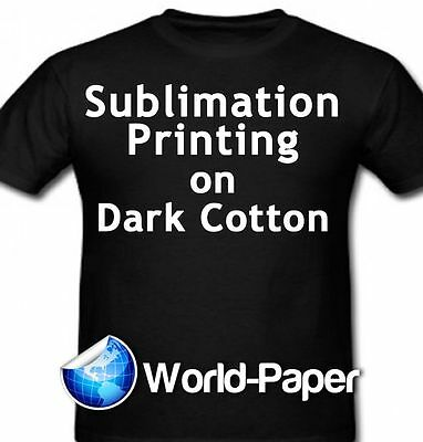 """Sublimation Printing for Dark Cotton Fabric 11"""" x 17"""" - 10 sheets Heat Press :)"""