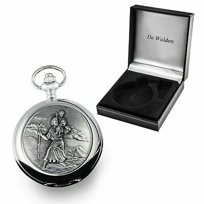 Boy's Baptism Gift, Engraved St Christopher Pocket Watch