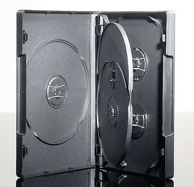 NEW! 1 Premium 5-Disc DVD Case 22mm Black - Holds 5 discs - Five
