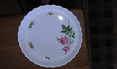 """FINE CHINA ROYAL NORDIC ROSE COLLECTION CHRISTINEHOLM QUICHE TART PAN 9 1/2"""" !!"""