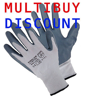 24 Pairs Nitrile Coated Safety Work Gloves Construction Gardening Mechanics Grip