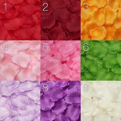 Silk Rose Petals Confetti Flower Engagement Celebration Wedding Decoration
