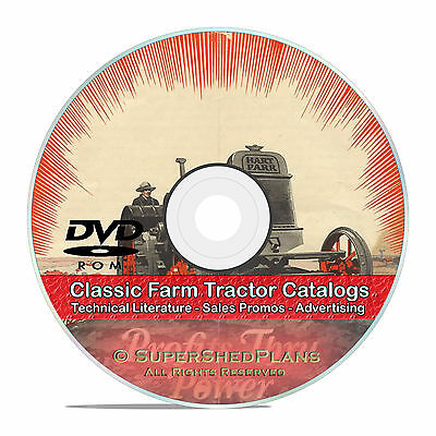 Steam Farm Tractor Steel Wheel Catalogs, Thresher, Massey Harris IHC CD DVD V36